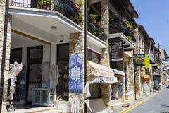 山举世闻名的村庄Pano Lefkara,塞浦路斯,欧洲 免版税图库摄影