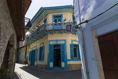 山举世闻名的村庄Pano Lefkara,塞浦路斯,欧洲 库存照片