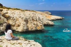山举世闻名的村庄Pano Lefkara,塞浦路斯,欧洲 免版税库存照片