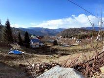 山乌克兰村庄在喀尔巴汗 免版税库存照片