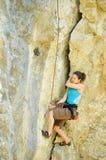 登山人在克里米亚2 库存照片