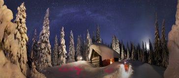 登山人的圣诞节传说) 免版税库存图片