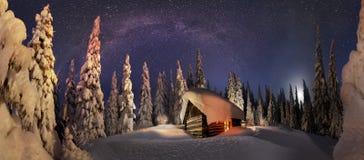 登山人的圣诞节传说) 图库摄影