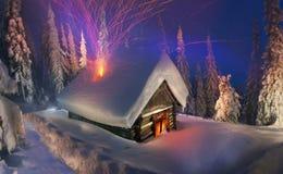 登山人的圣诞节传说 免版税库存图片