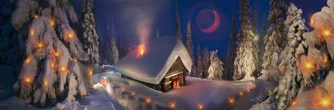 登山人的圣诞节传说 库存照片