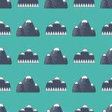 山传染媒介剪影自然室外岩石雪冰顶面装饰风景旅行上升的小山高峰远足 免版税图库摄影