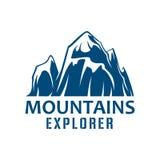 山体育设计的远征标志 向量例证
