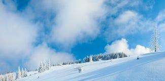 山全景冬天 库存图片