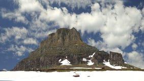 山全景在摇石通行证冰川国家公园的 免版税图库摄影