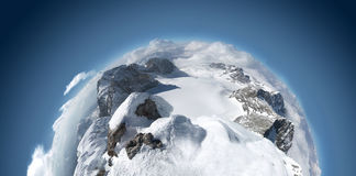 山全景异常 免版税图库摄影