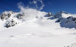山全景雪视图 免版税库存照片
