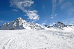 山冬天 库存照片