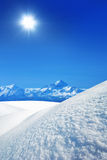 山冬天 图库摄影