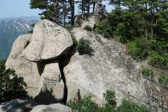 山华山风景蘑菇石头 库存图片