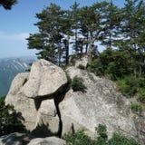 山华山风景蘑菇石头 免版税库存照片