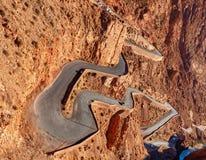 山口在Dades狼吞虎咽,阿特拉斯山脉,摩洛哥 免版税图库摄影