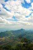 美丽的山在泰国。 免版税库存图片