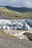 山和冰川在冰岛 免版税库存图片