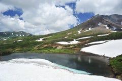 山和冰水池 免版税图库摄影