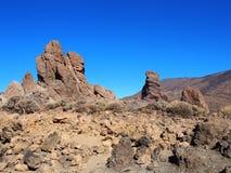 山和大岩层在teide国家公园 库存照片