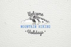 山和室外冒险 高涨komovi montenegro山 详细的元素 库存照片
