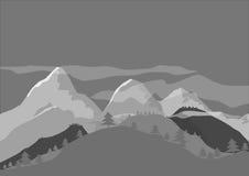 山和小山 库存图片