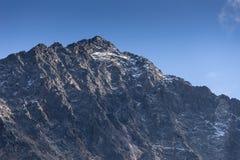 山和峰顶风景 KÃ ¼ htai冰川,自然环境 远足在Stubai阿尔卑斯 Sellrain谷,提洛尔,奥地利 免版税库存照片