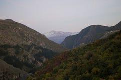 山和森林环境美化看见从普里兹伦堡垒,科索沃 库存照片