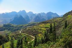山和河江省的风景,在越南北部 免版税库存照片