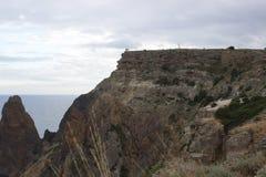 山和海风景 库存照片