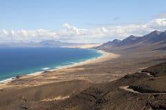 山和海洋 库存图片