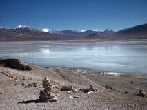 山和湖全景玻利维亚 库存图片