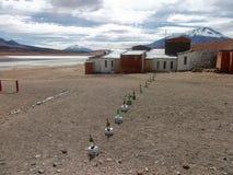 山和湖全景玻利维亚 图库摄影