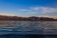 山和湖,缅甸的(Burmar) inle湖 库存图片