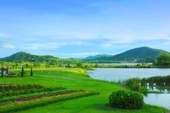 山和盐水湖公园风景 免版税库存照片