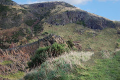 山和蓝天 库存照片