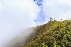 山和雾在土井inthanon在Chiangmai省、ThailandBeautiful山和雾在土井inthanon在Chiangmai p 库存图片