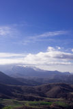 山和青山在层数 免版税图库摄影