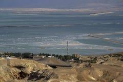 山和死海的看法 免版税库存图片
