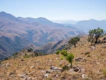 山和Malolotja自然保护,斯威士兰,南部非洲干燥风景风景看法  库存图片
