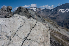 山土坎在南阿尔卑斯山 免版税库存照片