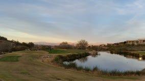 山在亚利桑那的沙漠 免版税库存图片