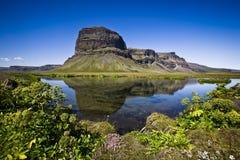 山在冰岛 免版税图库摄影