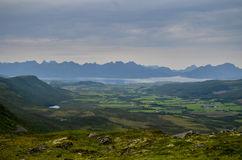 山在北挪威 库存照片