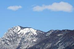 山在卢加诺的名为denti della vecchia 库存照片