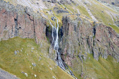 山在厄尔布鲁士山落 免版税图库摄影