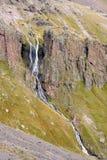 山在厄尔布鲁士山落 免版税库存照片