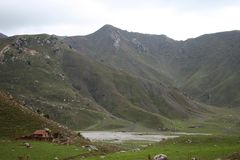 山在吉尔吉斯斯坦 库存照片