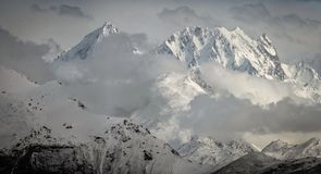 山在喜马拉雅山 免版税库存照片