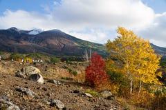山在国家公园Daisetsuzan 免版税库存照片